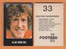Bolton Wanderers Alan Gowling
